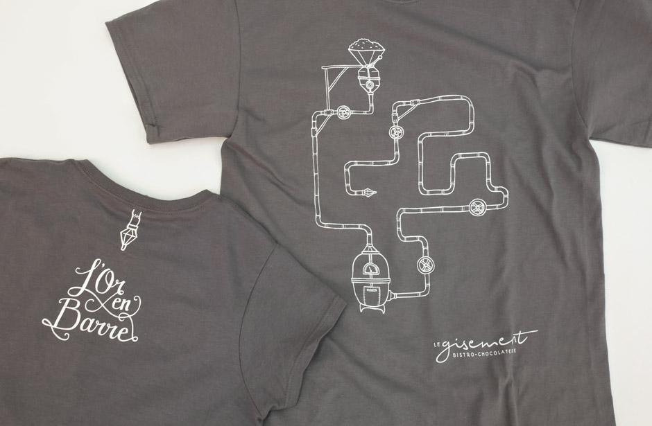Chocolaterie Le Gisement - T-shirt - Avant/Arrière