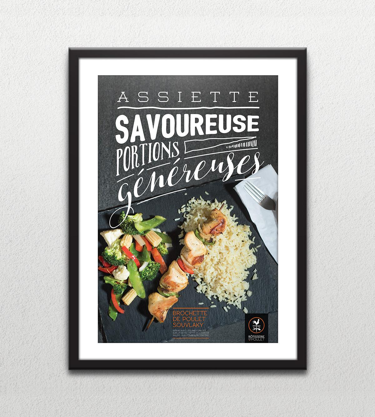 Affiche - Brochettes - Assiette savoureuse portions généreuses