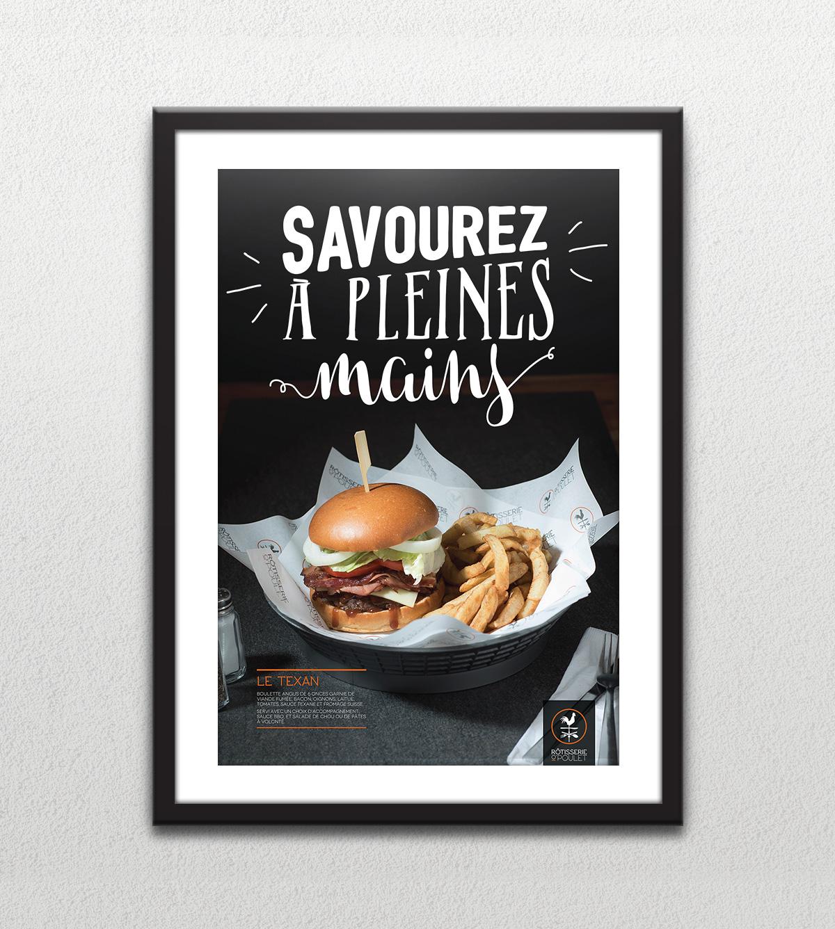 Affiche - Burger - Savourez à pleines mains