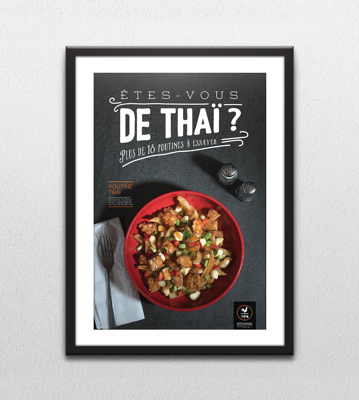 Affiche - 18 poutines à essayer - Êtes-vous de thaï?