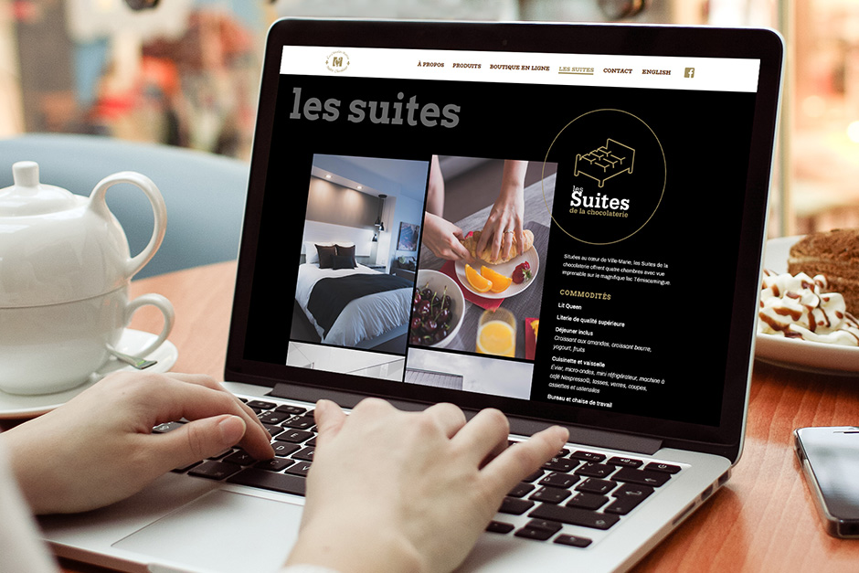 Site web des Chocolats Martine