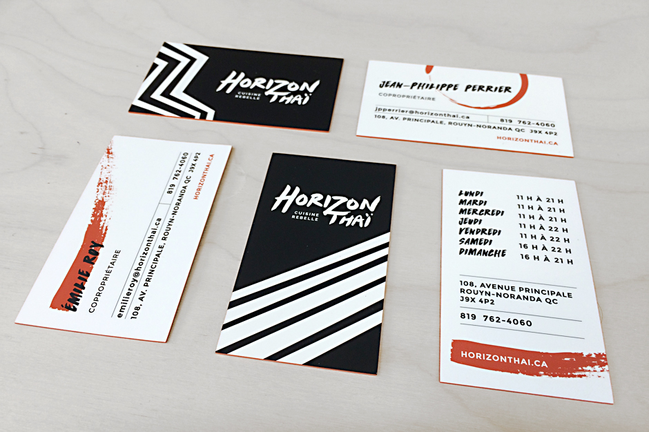 Cartes d'affaires - Horizon Thai